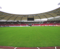 KS Audio Speaker Installation Mercedes Benz Soccer Stadium in Stuttgart Germany
