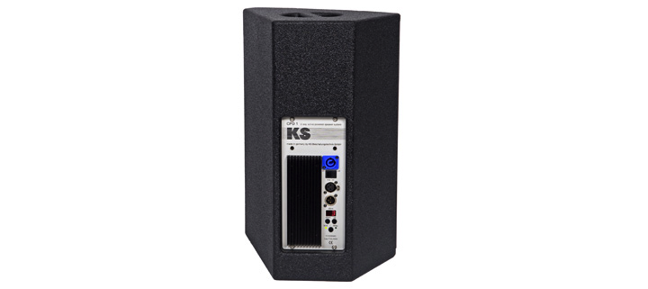 KS Audio Live/PA CPD1M Powered Floor Monitor Back