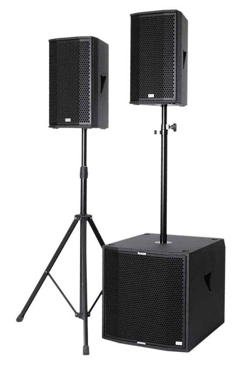 KS Audio SAT3--the most compact digital live PA loudspeaker / subwoofer system