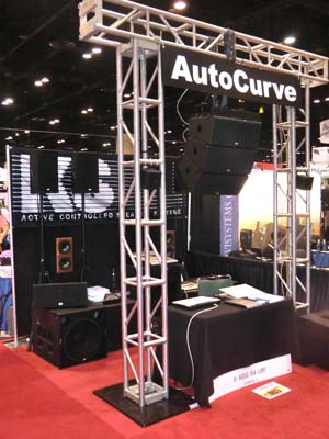 KS Audio's booth at the 2011 Infocomm Show in Orlando, Florida