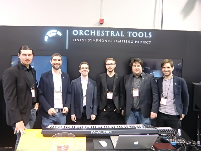 The Orchestral Tools booth at NAMM 2015 featured KS CX-Coaxial monitors