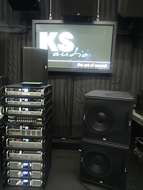 KS Audio Musikmesse 2015 amp rack display