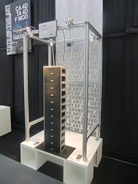 Miniature U-Line display at KS Audio 2015 Musikmesse booth
