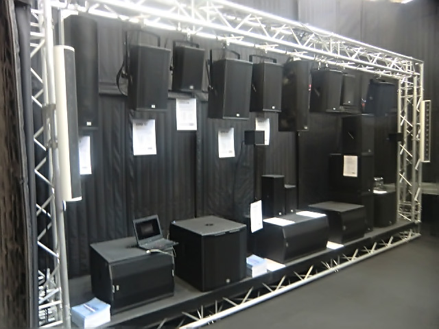 Small sound wall at KS Audio live PA booth, 2015 Musikmesse